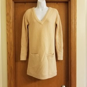 Club Monaco Wool Sweater Dress Pockets XS